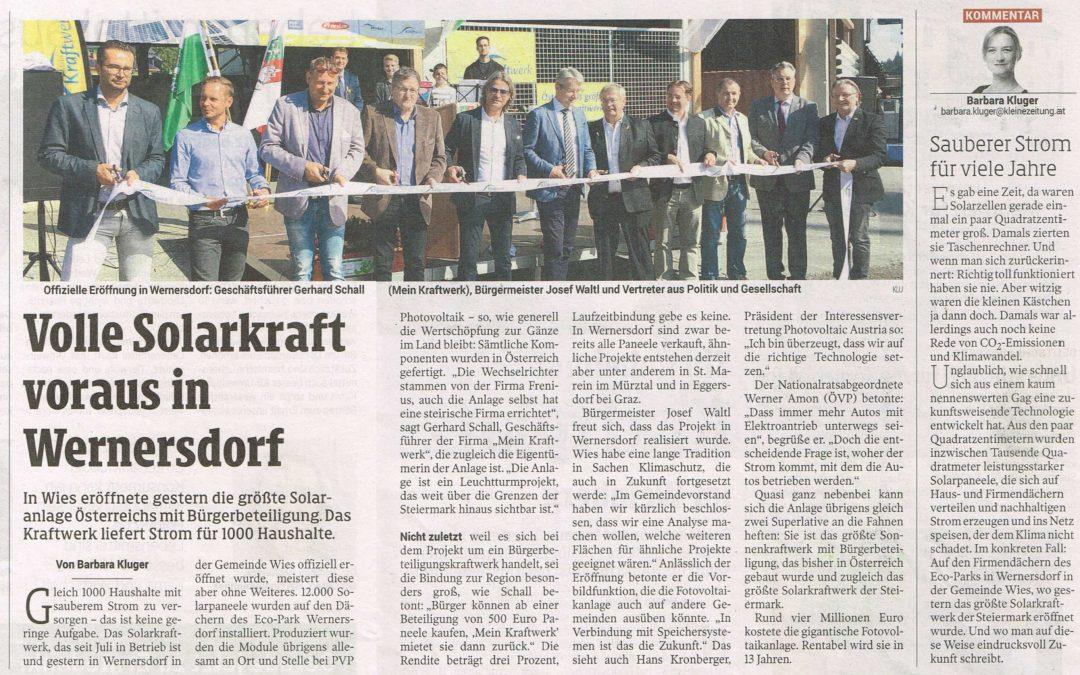 Volle Solarkraft voraus in Wernersdorf